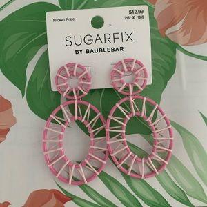 NEW sugarfix baublebar pink earrings